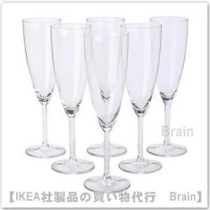IKEA/イケア SVALKA シャンパングラス22 cm 6個セット|shop-brain
