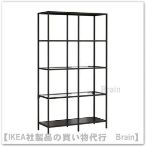 IKEA/イケア VITTSJO シェルフユニット ブラックブラウン|shop-brain