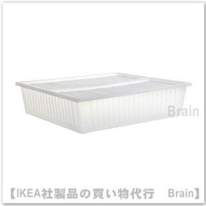 IKEA/イケア GIMSE ベッド下収納ボックス65x70 cm ホワイト|shop-brain