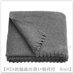 IKEA/イケア TJARBLOMSTER ベッドカバー150x210 cm グレー
