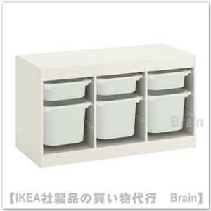 IKEA/イケア TROFAST 収納コンビネーション ボックス付き99x56 cm ホワイト/ホワイト|shop-brain