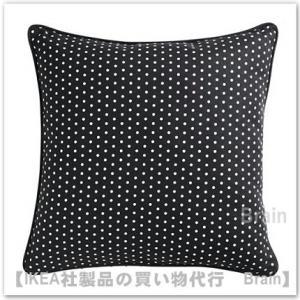 IKEA/イケア MALINMARIA クッション40x40 cm ダークグレー/ホワイト