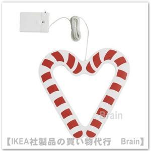 IKEA/イケア STRALA LEDペンダントランプ・キャンディケイン/電池式24 cm ホワイト...