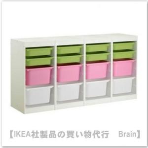 IKEA/イケア TROFAST 収納コンビネーションボックス付き184x30x94 cm(