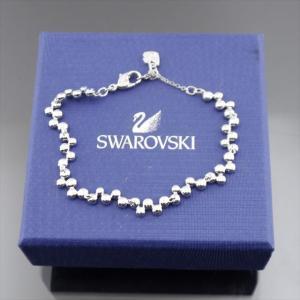 美品 スワロフスキー ブレスレットラインストーン シルバー|shop-brandreshopfuji