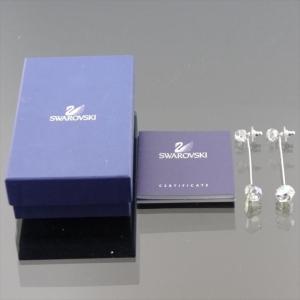 美品 スワロフスキー ピアス シルバー クリスタル|shop-brandreshopfuji