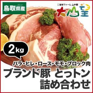 送料無料 鳥取県産ブランド豚 とっトン 詰合せ 2kg以上(バラ ヒレ ロース モモ)豚ブロック 豚肉 豚 お肉 肉 ブロック ブロック肉 真空冷蔵 お中元 中元|shop-daisenbou