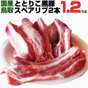 ととりこ豚 ととりこ黒豚 スペアリブ 2本入り 1.2kg以上 バーベキュー キャンプ BBQ ととりこ黒豚 ととりこ豚 黒豚|shop-daisenbou