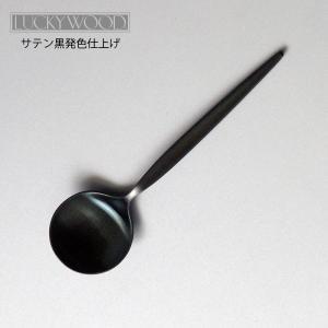 カトラリー ブイヨンスプーン ラッキーウッド メテオラ 黒発色 日本製 メール便可 shop-e-zakkaya