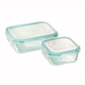 耐熱ガラス製 クラルテ 保存容器 2点セット CTH-002|shop-e-zakkaya