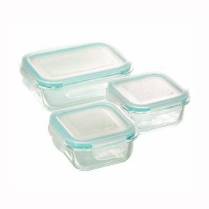 耐熱ガラス製 クラルテ 保存容器 3点セット CTH-003|shop-e-zakkaya