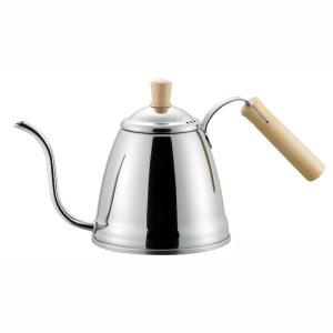 IH200V対応 フィーノ ウッドコーヒーポット1.2L 日本製 ステンレス|shop-e-zakkaya