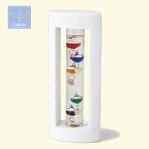 オブジェ ガリレオ ガラスフロート 温度計S  ホワイト 333-205 茶谷産業|shop-e-zakkaya