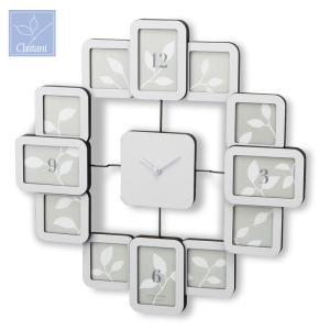 「RENTOLA」クロック フォトフレーム 253-516W ホワイト 茶谷産業|shop-e-zakkaya
