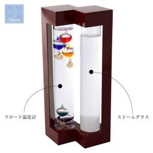 オブジェ ファンサイエンス 温度計&ストームグラス 大 333-273 茶谷産業 shop-e-zakkaya