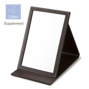 「Supplement」折りたたみ式スタンドミラー S 840-564 手鏡 (茶谷産業)(ギフト) (包装無料)|shop-e-zakkaya
