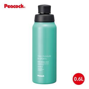 「ステンレスボトル」ストレートドリンク 直飲みタイプ 0.6L AJD-61GM ミントグリーン「ピーコック魔法瓶工業」|shop-e-zakkaya