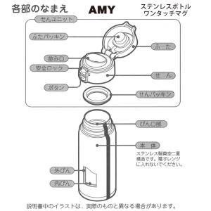「メール便可」ピーコック部品 ステンレスボトル AMYワンタッチマグ用 せんパッキンふたパッキンセット AMY-SNFTP|shop-e-zakkaya|02