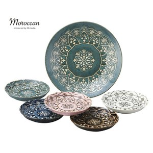 モロッコ風の模様が食卓を楽しませてくれます。 ◆製品仕様/電子レンジ使用可 ◆セット内容/プレートL...