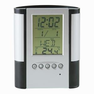 「多機能時計」マルチクロック付ペンスタンド D2116 (時計付ペンスタンド)(ギフト)(包装無料)|shop-e-zakkaya