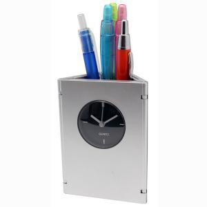 「多機能時計」ペン&フォトスタンドクロック D2599(時計付ペンスタンド)(ギフト)(包装無料)|shop-e-zakkaya