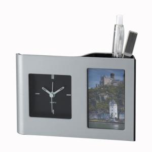 「多機能時計」カークデスクスタンド 610-16 (時計付フォトフレーム)|shop-e-zakkaya