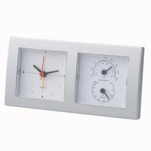 「多機能時計」スクエアクロックサーモ 6110(温度計付時計)(ギフト)(包装無料)|shop-e-zakkaya