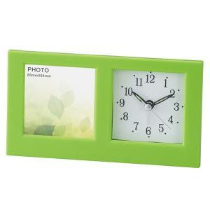 「アナログ時計」フォトクロック リーフ 6118(時計付フォトフレーム)(ギフト)(包装無料)|shop-e-zakkaya