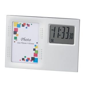 「多機能時計」フォトクロック ポライト 6122(時計付フォトフレーム)(ギフト)(包装無料)|shop-e-zakkaya
