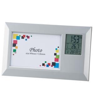 「多機能時計」フォトフレームクロック ワイド 6130(時計付フォトフレーム) 日本製|shop-e-zakkaya