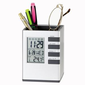 「多機能時計」キューブデスクスタンド661-14(時計付ペンスタンド)(ギフト)(包装無料)|shop-e-zakkaya