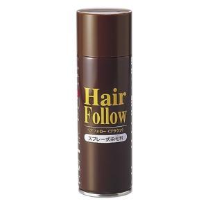 薄毛スプレー/ヘアケア 〔ブラウン〕 スプレー式 150g マコンブエキス・センブリエキス配合 『HairFollow ヘアフォロー』|shop-easu01