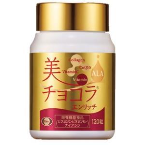 美チョコラエンリッチ エイジングケアサプリ 120粒 栄養機能食品(ビタミンC・ビタミンB2・ナイアシン)