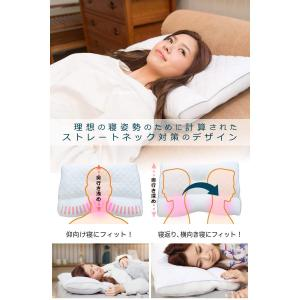 ストレートネック対策機能枕エンジェルネックピロー/imadeシリーズ変形した頸椎を正しい形へ 高さ調節 抗菌防臭 パイプ つぶ綿 枕 2Wa|shop-frontier