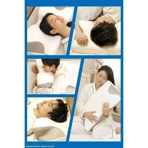 4つの寝姿勢をサポート ニューロンピロー 安眠 枕 横向き 仰向け うつ伏せ マルチに対応 低反発 首こり 頭痛 肩こり 負担軽減 洗える専|shop-frontier