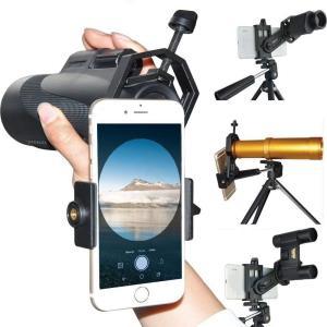 monofive iPhone スマートフォンを望遠鏡 双眼鏡 顕微鏡 フィールドスコープに取付 カメラ撮影できる マウントアダプタホルダー|shop-frontier