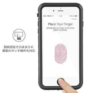 Merit iPhone8 Plus ケース iPhone7 Plus ケース 防水ケース リング付き スタンド機能 防塵 耐衝撃 IP68 shop-frontier