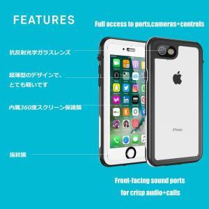 iPhone6/6s 防水ケース 耐衝撃 カバー クリア TPU ストラップ 完全防水IPX8 薄型 軽量 Besinpo 指紋認証対応 I shop-frontier