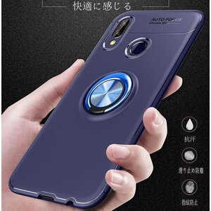 Huawei P20lite 用 TUPソフトシェル ケースリング付き 指リングスタンド 衝撃 落下 防止 指紋防止 防水滑り止め 薄型 ス|shop-frontier
