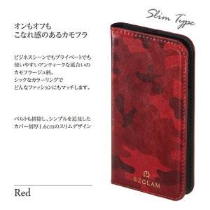 サンクレスト BZGLAM iphone8/7/6s/6 4.7インチ 対応 カモフラージュダイアリーカバー 手帳型ケース レッド iP7-|shop-frontier