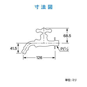 カクダイ ガーデン用万能ホーム水栓 レトロ 701-305K-13|shop-frontier