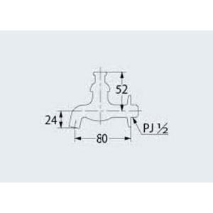 カクダイ 共用横水栓 かぎ式13 7035|shop-frontier