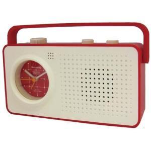 CRAFTY 声が録音できる目覚まし時計 RECORDING CLOCK RECOE WHITE/RED CRF050 正規代理店品|shop-frontier
