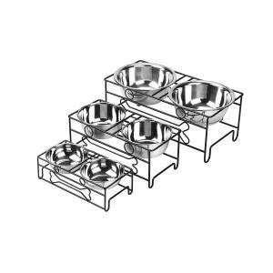 VIVIKO ペット用品 骨型 犬のボウル 猫のボウル ご飯入れ 食器 食事 台 高品質ステンレス製 餌やり 水やり 洗いやすい 清潔 (S|shop-frontier