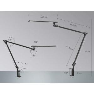 デスクライト PHIVE LED デスクスタンド クランプ ライト 視力ケア 平面発光 電気スタンド無段階調光 500ルーメン タッチセンサ|shop-frontier