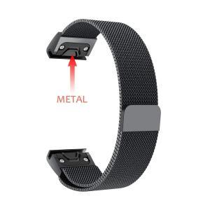 XIHAMA for Garmin Fenix 5 磁気腕時計バンド 22mm ミラネーゼループ メ...