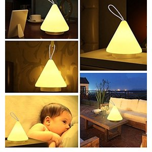 W-LITE 充電式テーブルランプ スタンド ベッドサイドランプ ナイトライト ピラミッド式 間接照明 雰囲気作り 提灯 インテリア 寝室|shop-frontier