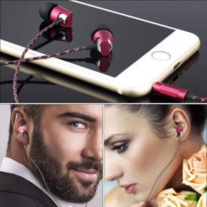 KingYou イヤホンマイク iphone android スマートフォン対応 有線 断線しにくい 通話用 イヤフォン KM02 レッド shop-frontier