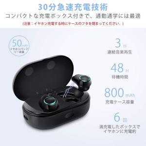 完全ワイヤレス Bluetooth イヤホン 片耳 両耳とも対応 呼吸ランプ付き スポーツイヤホン 高音質 ワンボタン設計 軽量 Bluet|shop-frontier