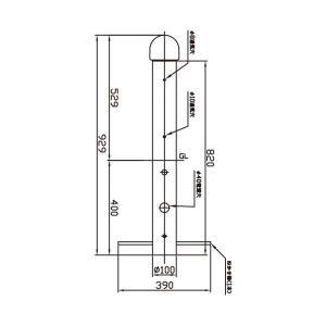 NEC LEDガーデンライト ショートポール LIFELED'S XG-LE26102L